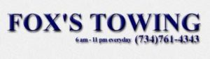 Fox's Towing Logo in Ann Arbor MI