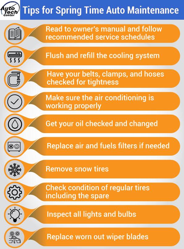 Tips for Springtime Auto Maintenance
